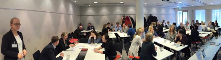 Panorama med deltagare på Xtractors användarforum.