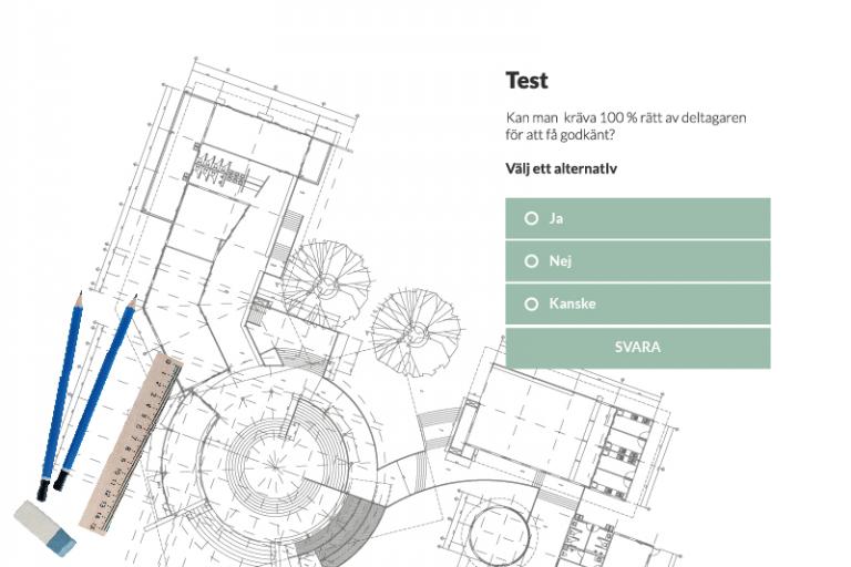 Exempelbild på test med flervalsfråga.