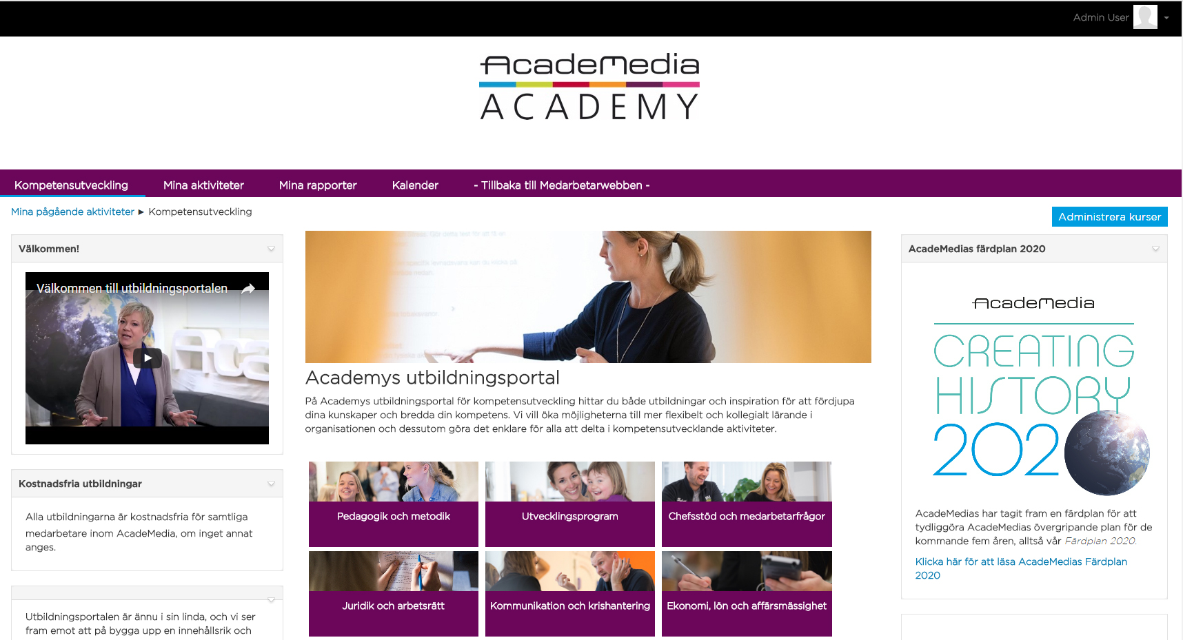 Academedia Academy Totara första sida