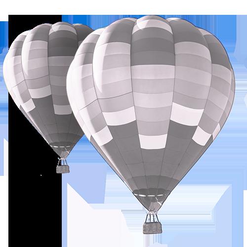 Två luftballonger