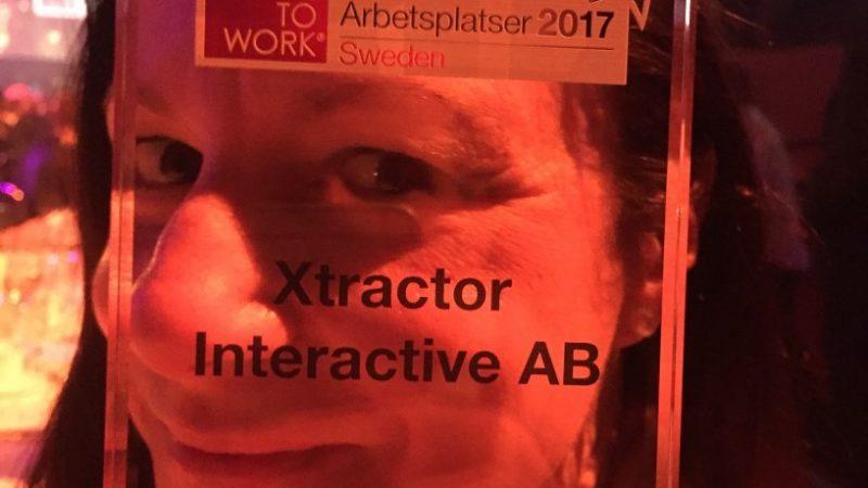 Xtractor – en av Sveriges bästa arbetsplatser