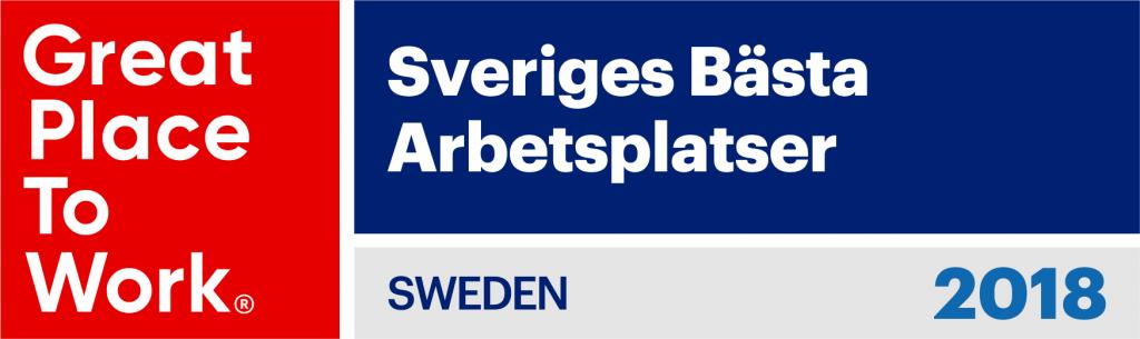 Sveriges bästa arbetsplatser 2018 - Great Place to Work Sweden