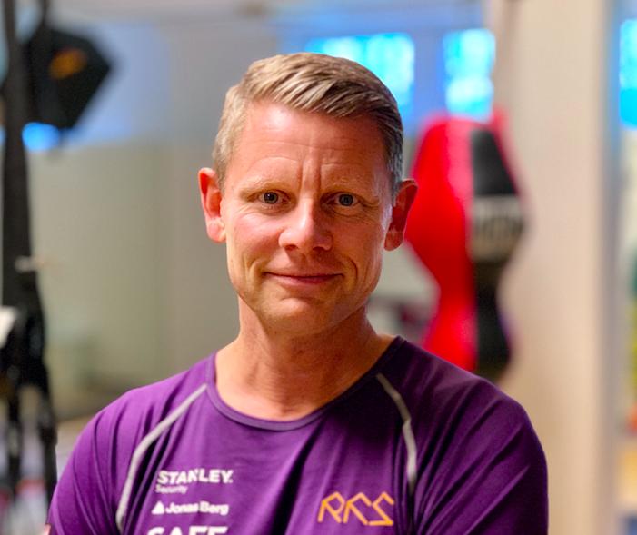 Niklas Harging, på gymmet.