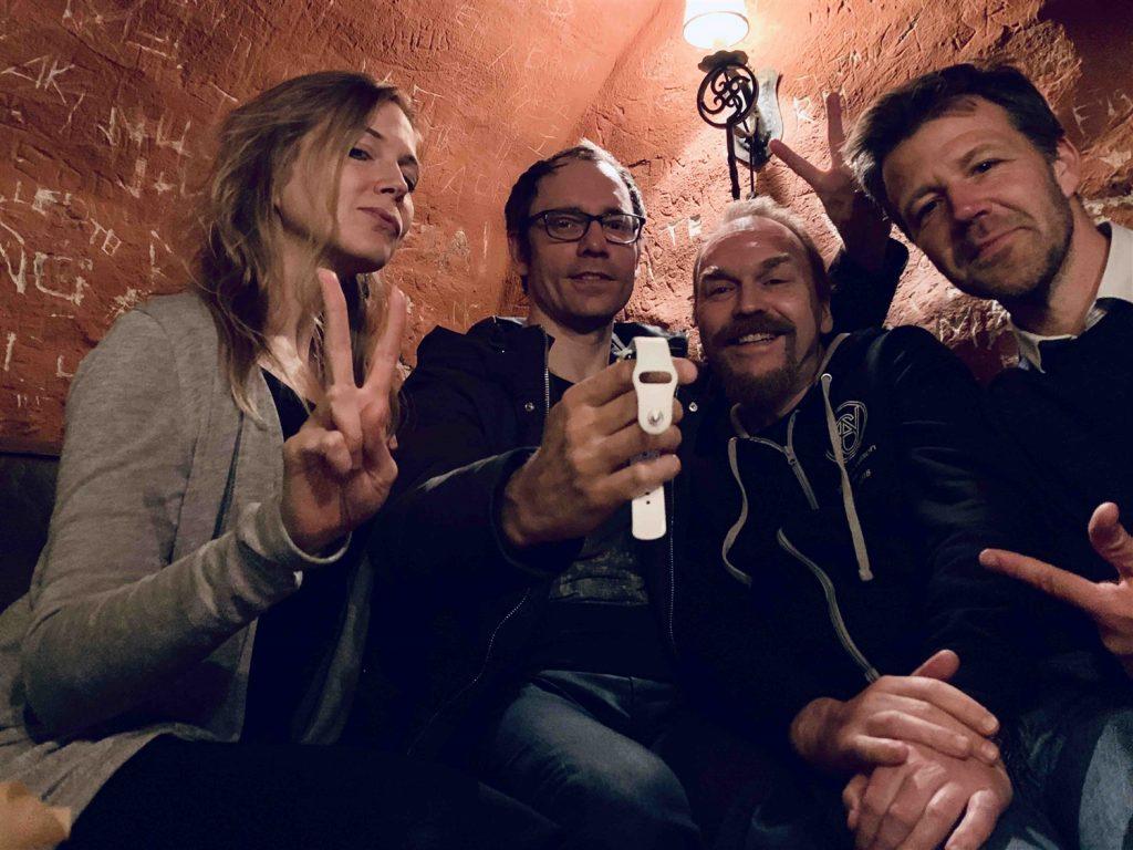 Fyra glada medarbetare från Xtractor, Anna, Alexis, Martin och Rickard.