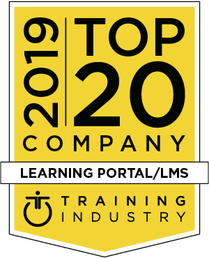 Logotyp: Top 20 Company 2019, Learning Portal/LMS, Training Industry