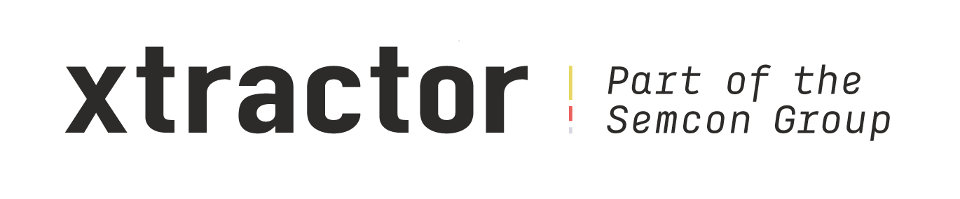 Logotyp: Xtractor - Part of the Semcon Group.