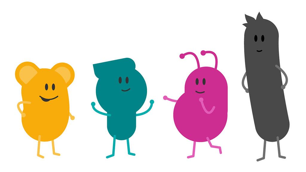 De fyra filurerna Mima, Pop, Solo och Klave.