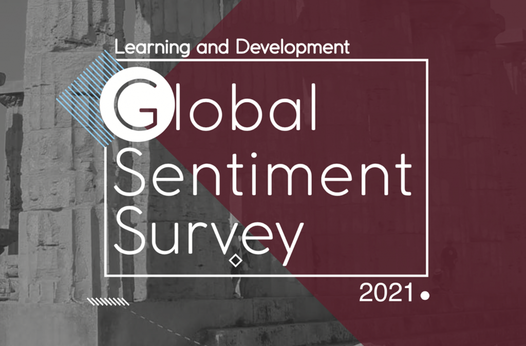 Logotyp: Learning and Development Global Sentiment Survey 2021.
