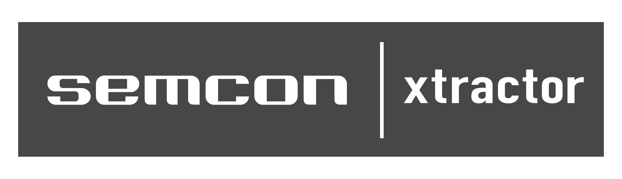 Xtractors webbplats, logotyp: Xtractor-Semcon..